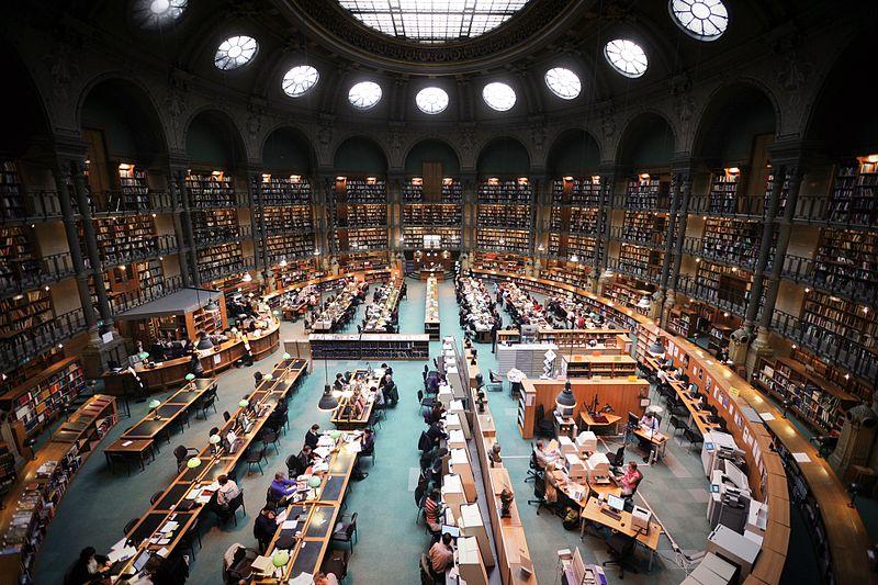 Paris : Bibliothèque nationale de France, site Richelieu, salle ovale.
