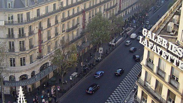 Boulevard Haussman à Paris