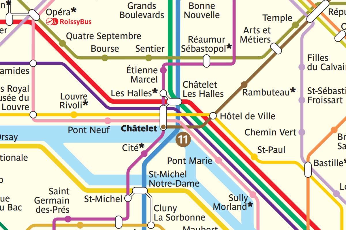 Plan Du Métro De Paris Pdf Stations Des Lignes 1 à 14