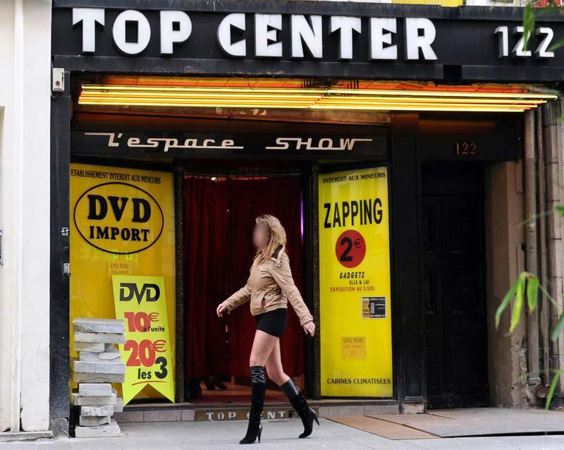 Prostituée de la rue Saint-Denis à Paris