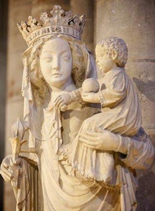 """Vierge à l'Enfant du XIVème siècle dite """"Notre Dame de Paris"""""""