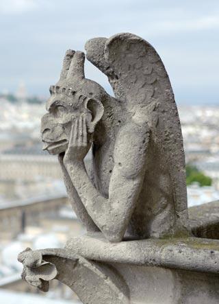 La célèbre Stryge de Notre-Dame.