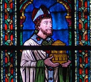 Vitrail de Maurice de Sully à Notre Dame de Paris