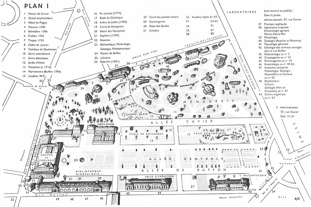 Jardin des Plantes : plan n°1