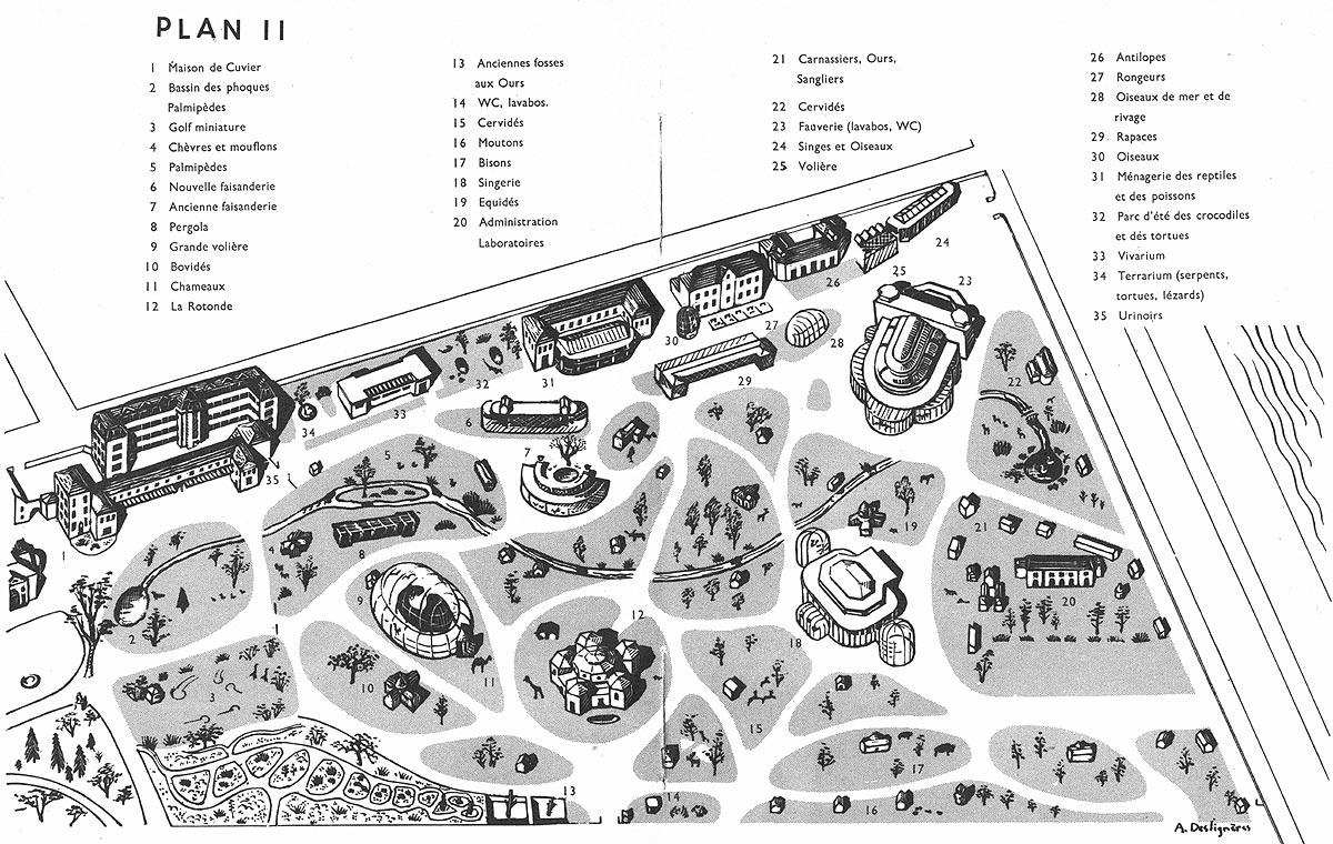 Jardin des Plantes : plan n°2