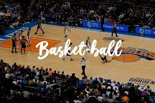 Match des Knicks au Madison Square Garden