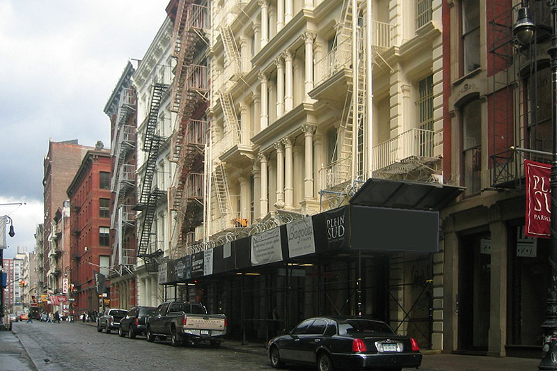 Greene Street : Quartier de SoHo à New York